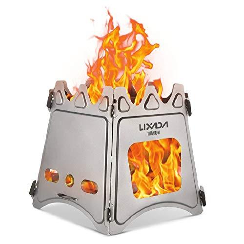 Lixada ウッドストーブ ピクニック バーベキューコンロ 焚火台 ファイアスタンド 折りたたみ 薪 ウッドスト...