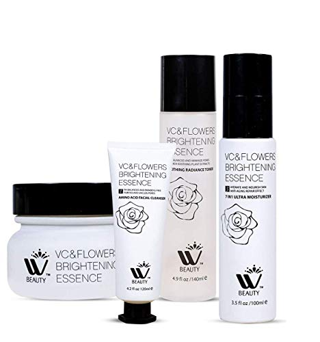 W Beauty Anti Aging Skin Care Kit | 4 Beauty Care Products |Facial Moisturizer-Toner-Cleanser And Night Cream |14.4 Oz