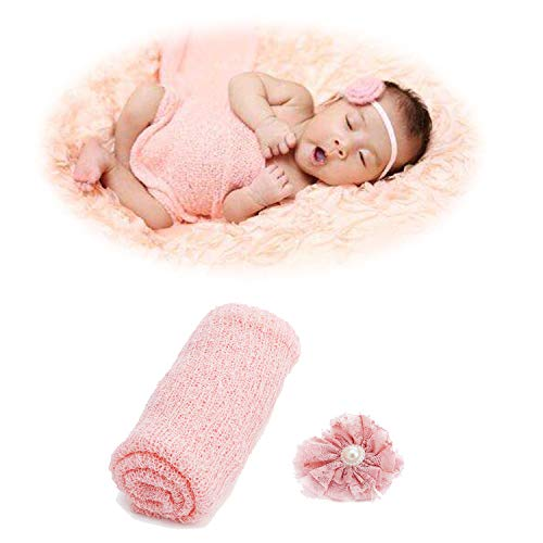 Newborn Baby Photography Props - Long Ripple Wrap Blanket, 0-pink, Size One Size