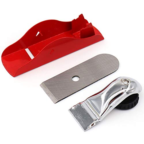 Mini Hand Planer 3-1/2 inch Red Adjustable, used for Wood Craft Processing, Carving and Trimming Projects, Carpenter DIY Model Making (Hand Planer Red)