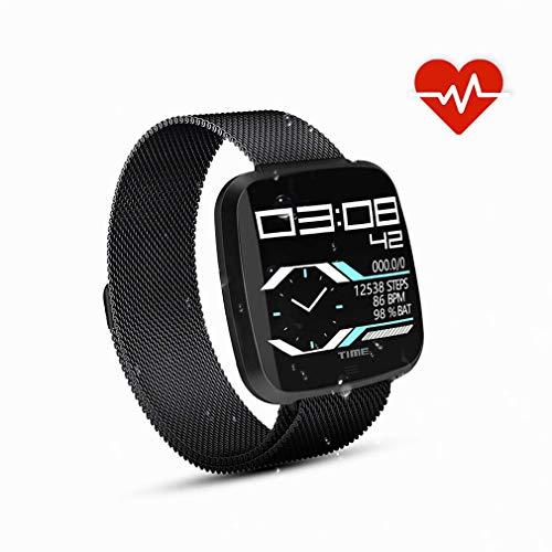 HOMECCLL Bluetooth Smart Watch IP67 wasserdicht/Herzfrequenz/Schlaf-Monitor/Schrittzähler/Kalorienzähler Sportuhr für iOS Android Phone,Black