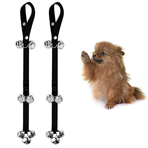 Galaxer Hund Türklingeln, Hund Türklingeln Tischglocke für Hunde Einstellbare Hundetürklingel für Kleine und Größere Dosg Toilettentraining Glocke Interaktion Glocke EINWEG