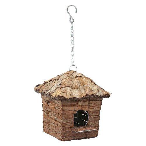 VERDEMAX 5738Tetto Coperto con Foglie Square capanna casa per Piccoli Uccelli