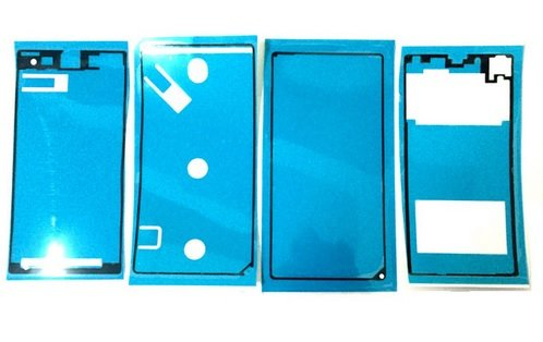 SONY Xperia Z1 (SO-01F / SOL23) 液晶パネル フロントパネル バックパネル用 両面テープ 粘着テープ 修理用シール 4枚セット 工具付き [並行輸入品]