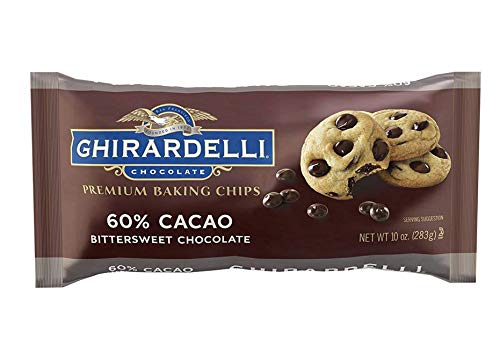 Ghirardelli Baking Chips, 60% Bittersweet Chocolate, 10 Ounce , 12 Count