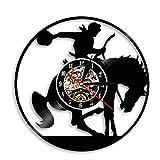 Reloj de pared para montar a caballo, reloj de diseño moderno,...