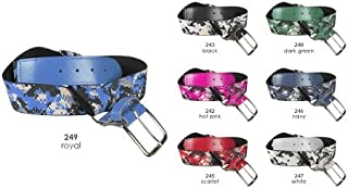 New! Digital Camo Baseball/Softball Belts (Youth & Adut, 7 Colors)