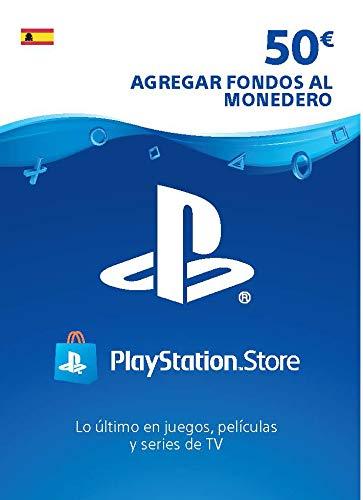 Sony, PlayStation - Tarjeta Prepago PSN 50€ | PS5/PS4/PS3 | Código de descarga PSN - Cuenta española