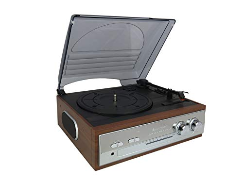 soundmaster PL186H (UK) Retro Brown Wooden 3 Speed (33/45/78 rpm) Record...