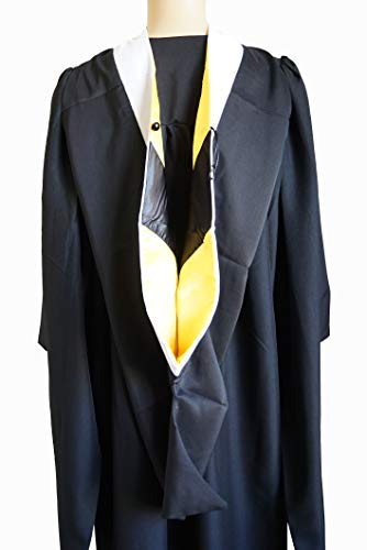GRADWYSE Arts & Letters Master Hood M.A. Graduation Master Degree Hood, Various College Colors Available White (Gold/Black)