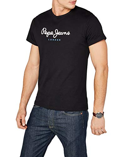 Pepe Jeans Eggo PM500465 Camiseta, Negro (Black 999), Medium