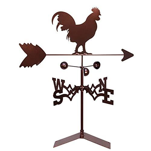 PEIRUK Veleta de Metal de Estilo Retro para jardín al Aire Libre, indicador de dirección de Viento Hueco, Veleta de Metal