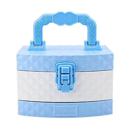 Caja de Maquillaje para niños, Maquillaje para niñas, fórmula Soluble en Agua para Juegos de simulación, Fiestas de Princesas, Principiantes, Fiestas de cumpleaños, Disfraces de Princesas y