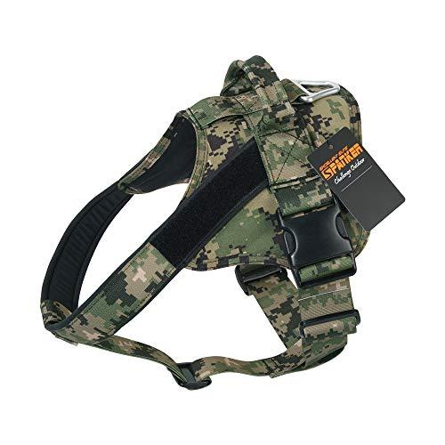 EXCELLENT ELITE SPANKER Hundegeschirr militärischen Ausbildung Patrol K9 Service Dog Weste Arbeiten verstellbar Hund Weste(Camouflage Forest-S)