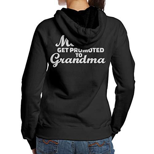 BMWEITIHB Great Moms Get Promoted to Grandmas Womens Pullover Hood (Back Print) Black