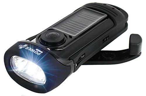POWER plus Barracuda Solar/Dynamo (Kurbel) LED Taschenlampe Wasserdicht