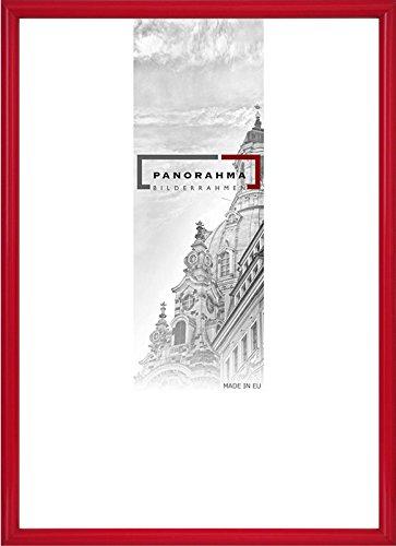 Kunststoff Bilderrahmen, Bildformat: 29,7 x 42 cm (DIN A3), Rot, Echtglas