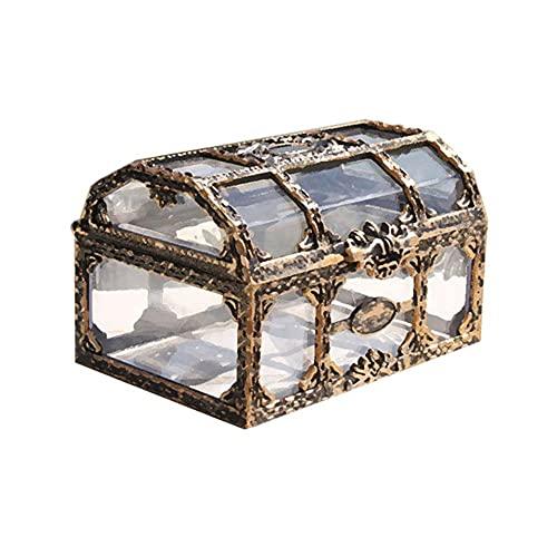 na Caja pirata retro Caja de malezas Joyas Caja de tesoro de plástico Contenedor de pendientes Caja de almacenamiento de cosméticos-China