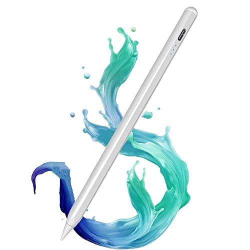 Penna per Tablet,1.5mm Penna Tablet con ad Alta Precisione, Inclinazione, Palm Rejection per Apple iPad 2018 e 2020,Pennino Adatto per Scrivere, Disegnare, Prendere Appunti, Giocare