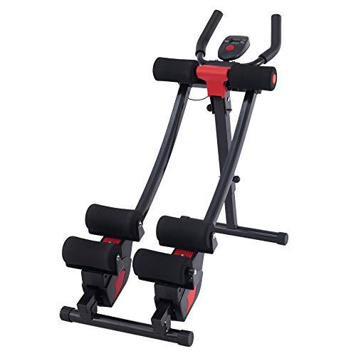 Z ZELUS Bauchtrainer AB Trainer Bauchmuskeltrainer klappbares Fitnessgerät Krafttrainingsgerät Rückentrainer mit 4 Stufen für Zuhause Belastung bis 150kg