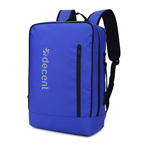 Decent Waterproof Laptoptas/Rugzak Backside Blauw