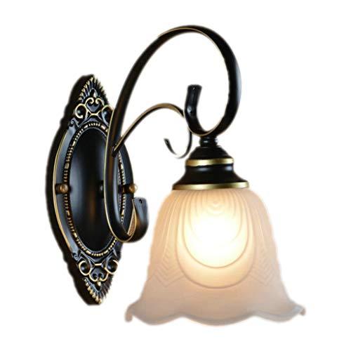 Lámpara de Pared Lámpara de Techo de Hierro Forjado Retro Sencilla lámpara de Noche balcón del Dormitorio Sala de Estar Comedor Estudio lámpara de Pared Creativa país Luces de Pared