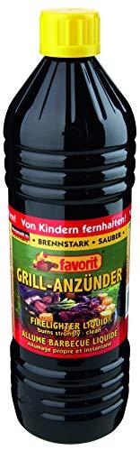 Favorit Anzünder flüssig, 1 Liter, Anzünder, Ofenanzünder, Kohleanzünder, geruchsneutral, ökologisch – 1260