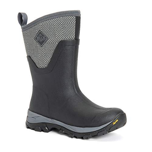 Muck Boot The Original Company, Women's Arctic Ice AG Mid, Size 8, Black/Gray Geometric