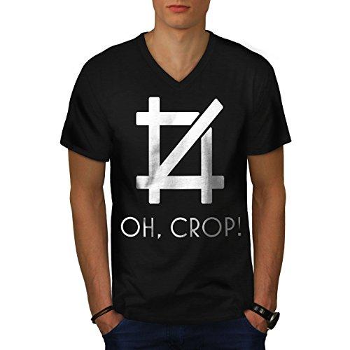 wellcoda Bild Bearbeiten Ernte MännerV-Ausschnitt T-Shirt Lustig Grafikdesign-T-Stück