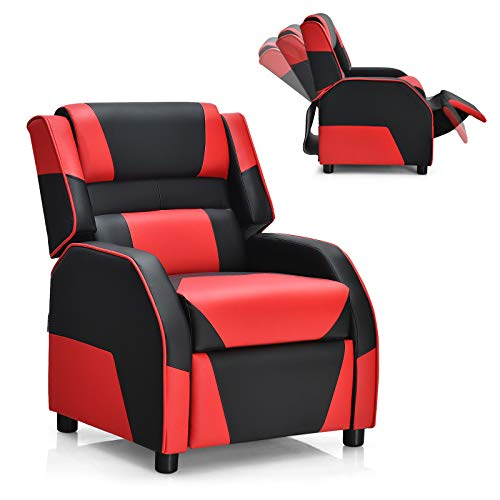 Giantex Kids Youth Gaming Recliner Chair, Children Racing Style Game Sofa with Headrest and Lumbar...