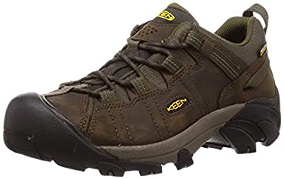KEEN Men's Targhee 2 Low Height Waterproof Hiking Shoe, Canteen/Dark Olive, 10 M US