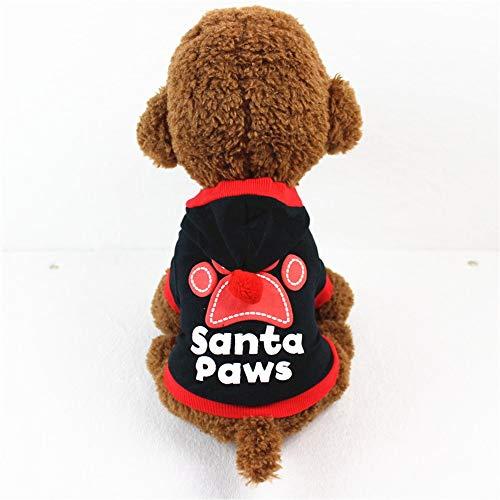 YABAISHI Frühling und Herbst Hunde-Bekleidung Nahen Kleiner Hund Hundekleidung Sweater (Color : Blak, Size : M)