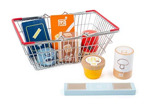 Small foot 11443 Lebensmittel-Set im Einkaufskorb