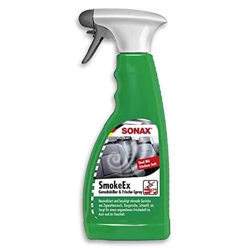 SONAX SmokeEx Geruchskiller & Frische-Spray (500 ml) befreit Textilien zuverlässig und lang anhaltend von störenden und unangenehmen Gerüchen > Art-Nr. 02922410