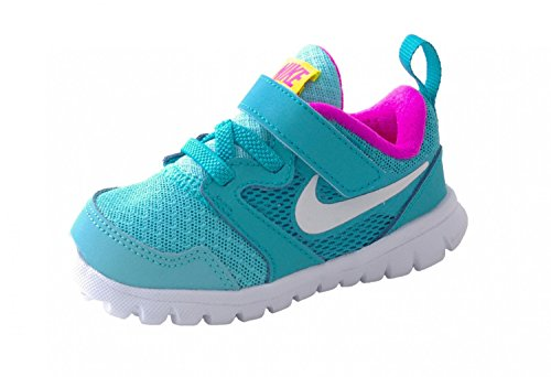 Nike Kinder Sportschuh Flex Experience 3 TDV 653700-400 Clearwater blau Kombi, Farben:blau/Kombi;Kinder Größen:22