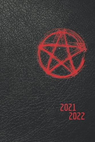 Agenda 2021 2022 Diaria: Agenda 2021-2022, día por página (agosto 2021 - julio 2022 planificador diario de productividad A5 (grimorio, libro de sombras, bruja)