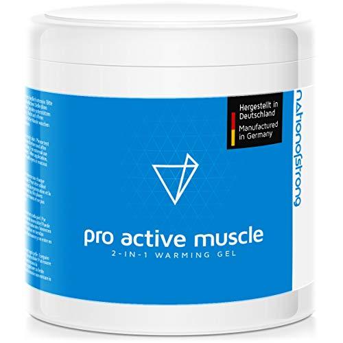Pro Active Muscle ist ein durchblutungsförderndes Regenerations- und Wärmegel - es unterstützt die Heilungsvorgänge bei Muskelschmerzen und Gelenkschmerzen - 500 ml Sportsalbe, Aktiv Gel