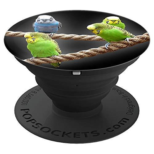 Wellensittich I Wellensittiche Haustier Vögel Geschenkidee - PopSockets Ausziehbarer Sockel und Griff für Smartphones und Tablets