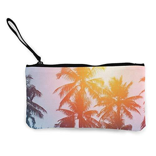 Bolsa de cosméticos Tropical Palm Tree bolsa de poliéster con cremallera bolsa de viaje