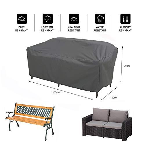 Hentex Cover Schutzhülle für Lounge Chair Gartenbank 2-Sitzer Abdeckung Loungesofa - 2
