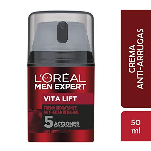 L'Oreal Paris Crema Antiarrugas Hombre, Men Expert, 50 ml