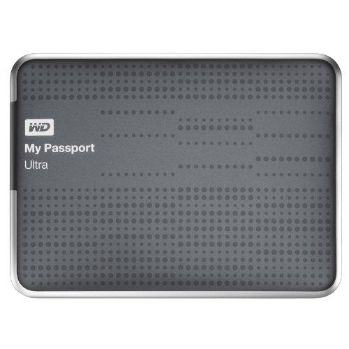 WD My Passport Ultra - Disco portátil ultracompacto de 1 TB, USB 3.0 (con Copia de Seguridad automática y en la Nube) Titanio