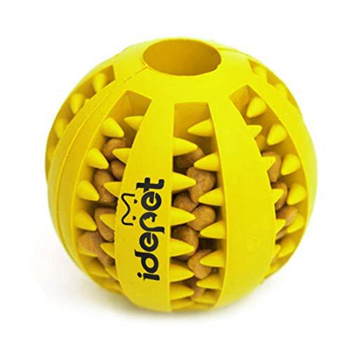 Idepet Hund Spielzeug Ball, ungiftig Bite resistent Spielzeug Ball für Hunde Welpen, Hundefutter Treat Feeder Zahn Reinigung Ball, Hunde Übung Spiel Ball IQ Training Ball