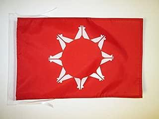 AZ FLAG Oglala Sioux Tribe Flag 18'' x 12'' Cords - Oglala Lakota Small Flags 30 x 45cm - Banner 18x12 in