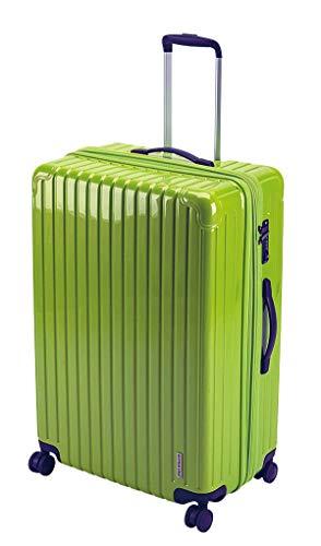 キャプテンスタッグ(CAPTAIN STAG) スーツケース キャリーケース キャリーバッグ 超軽量 TSAロック ダブルホイール 360度回転 静音 ダブルファスナータイプ Lサイズ エアーグリーン パルティール UV-79
