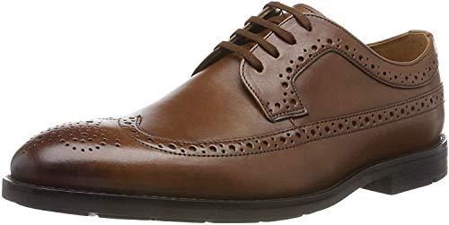 Clarks Ronnie Limit, Zapatos de Cordones Brogue, Braun British Tan Leather, 46 EU
