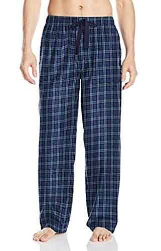 IZOD Men's Yarn Dye Woven Pajama Pant, Blue/Green, 3X-Large