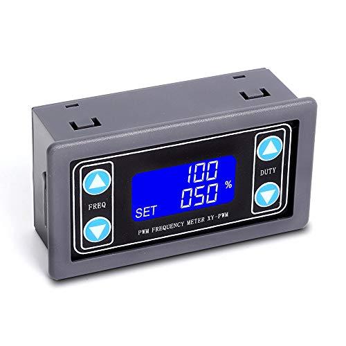 PEMENOL PWM Signalgenerator LCD Display 1-Kanal 1Hz-150KHz PWM-Ausgang, 1 Bit 3,3-30V PWM Pulsfrequenz Signal Generator Modul für Tests Verwendet.