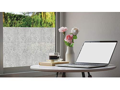 DIMEX Selbstklebende transparente Folie | Fensterfolie - Dekofolie Privatsphäre | Milchglasfolie Blickdicht Sichtschutzfolie für Zuhause und Büro - BLÄTTE [122x200 cm]