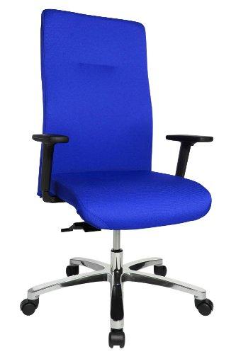 Preisvergleich Produktbild Topstar Drehstuhl Big Star 20 blau inkl. höhenverstellbare Armlehnen und Softpad-Armauflage